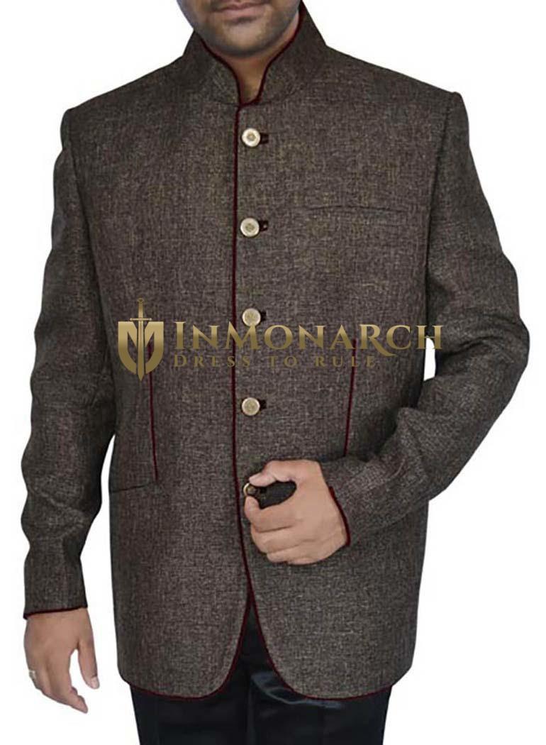 Classic  Dark brown 2 Pc Jodhpuri Suit