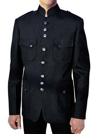 Winsome Safari Black Nehru Jacket