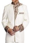 Glamorous Look Cream Nehru Jacket