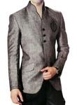 Royal Look Gray Linen Nehru Jacket