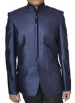 Mens Navy blue Polyester Nehru Jacket Designer