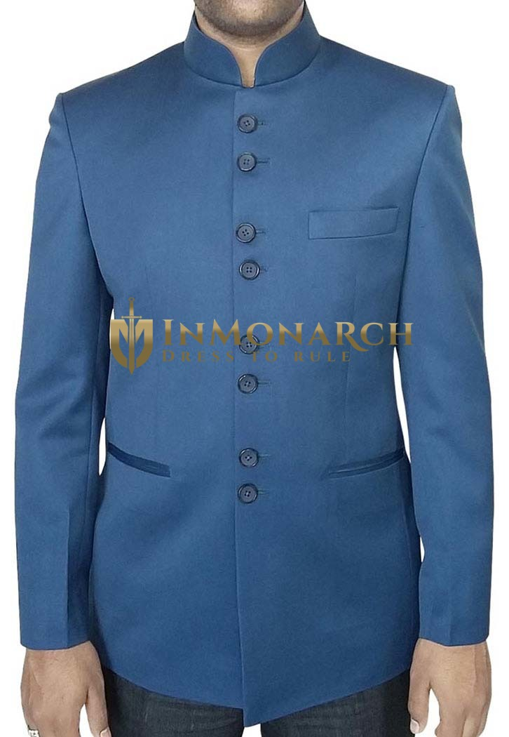 Traditional Airforce blue Nehru Jacket