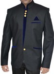 Ethnic Black and Blue Nehru Jacket