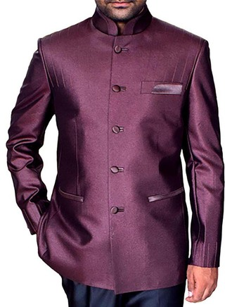 Mens Brown Nehru Jacket Traditional Designer
