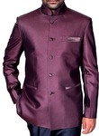 Mens Brown Nehru Jacket Traditional Designer conductor outfit
