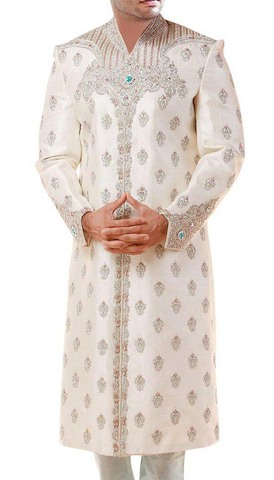 Attractive Traditional Look Bollywood Cream Sherwani