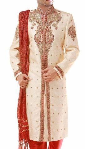 Royal Look Golden Wedding Jodhpuri Sherwani