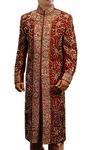 Groom Sherwani For Men Wedding Maroon Dupion Sherwani Heavy Work
