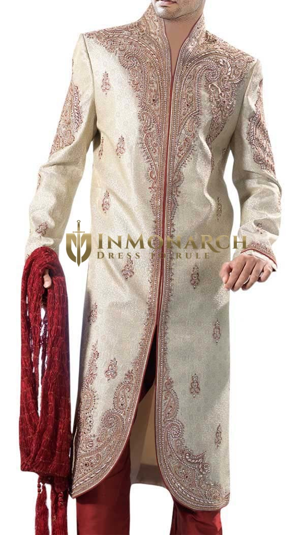 Eye Catching Golden Heavy Work Sherwani