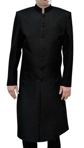 Traditional Good Looking Black Sherwani