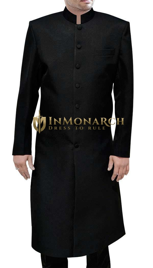 Mens Black Sherwani For Men Black Wedding Sherwani Traditional