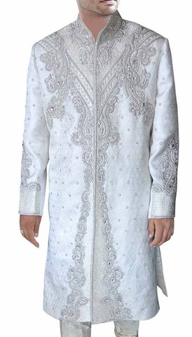 Groom Sherwani For Men Wedding White Sherwani Traditional