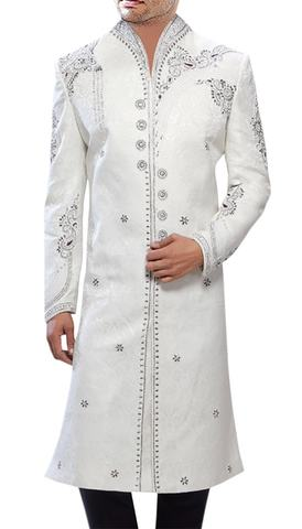 Mens Indian Sherwani White Sherwani For Men Classic Designer