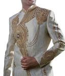 Groom Sherwani ForMen Wedding Cream Sherwani Heavily Embroidered