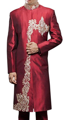 Men Sherwani Maroon Sherwani For Men Bollywood Western Attire Designer