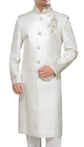 Luxurious White Sherwani