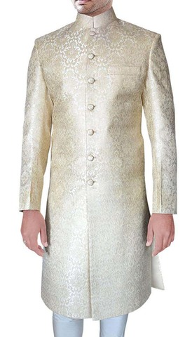 Handsome Cream Groom Sherwani