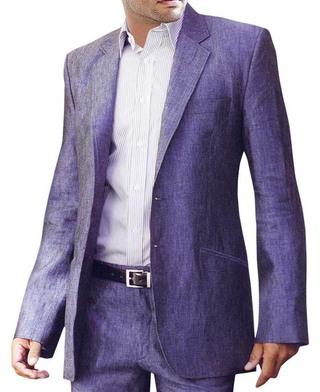 Mens Purple Linen suit Amazing Look Two Button