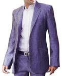 Mens Purple Linen 2 Pc suit Two Button Partywear