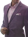 Mens Purple Linen 4 Pc Suit Notch Lapel