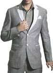 Mens Gray Linen Suit Stylish Look