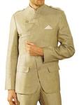 Mens Green Linen Suit Royal Look