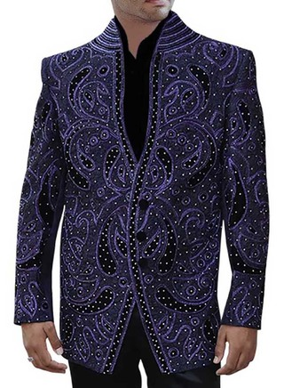Mens Regency Party Wear 3 pc Suit Designer Embroidered