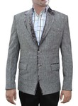 Mens Gray 2 Pc Party Wear Suit Notch Lapel