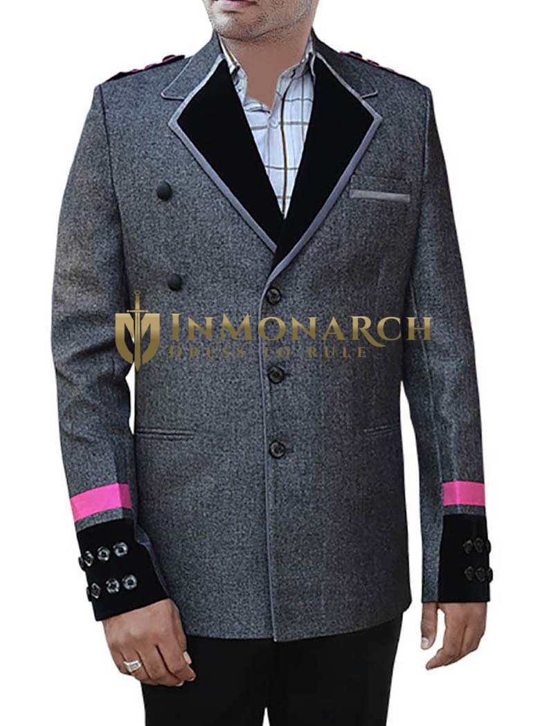 Groom Gray Wedding 3 Pc Party Wear Suit