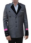 Mens Gray 2 Pc Party Wear Suit Wedding