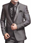 Mens Gray 6 pc Wedding Suit Traditional