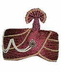 Wedding Maroon Turban Pagari Safa Hat for Partywear