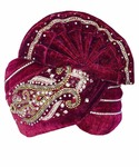 Royal Maroon Wedding Turban Pagari Safa Groom Hats