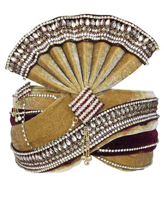 Buy Grooms Turbans Online Brown Pagari Safa Groom Hats