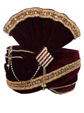Beautiful Zari Work Turban Pagari Safa Groom Hats