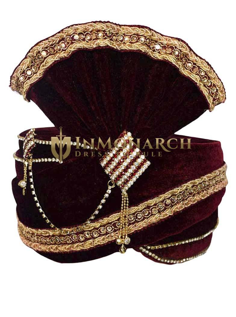 Beautiful Zari Work Turban Pagari Safa Groom Hats