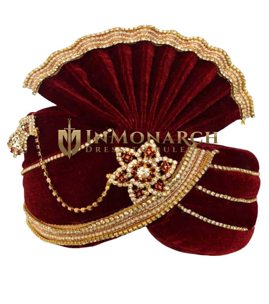 Significance Red Groom Turban Pagari Safa Groom Hats