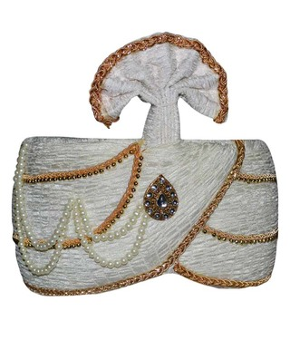 Wedding Cream Turban Pagari Safa Hat For Groom
