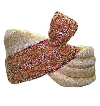 Wedding Turban Cream Pagari Safa Hat For Groom