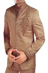 Mens Tan Tuxedo Suit Wedding Look Designer 5 pc
