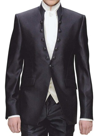 Mens Black Tuxedo Suit Royal Look Engagement 3 Pc