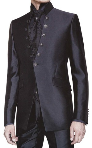 Mens Black Tuxedo Suit Reception 6 pc