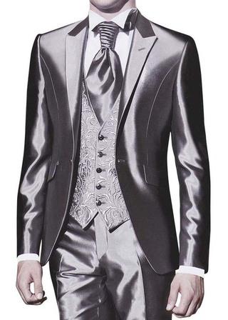Mens Sharkskin Tuxedo Stunning Wedding 5 pc