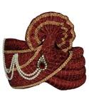 Wedding Maroon pagari safa hat for Partywear