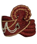 Wedding Maroon Pagari Safa Hat for Partywear