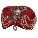 Wedding Maroon Turban Safa Hat For Groom