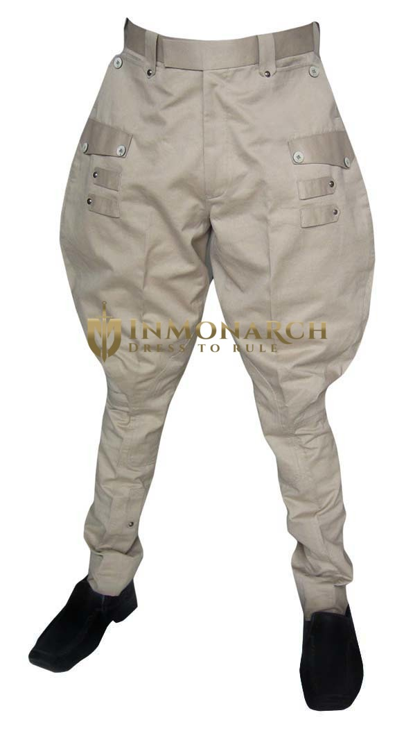 Mens And Womens Khakhi Baggy Breeches Designer Inmonarch