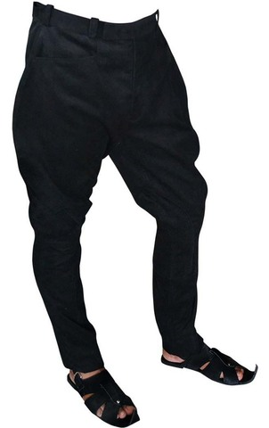 Black Corduroy Horse Riding Pants for Girls and Men
