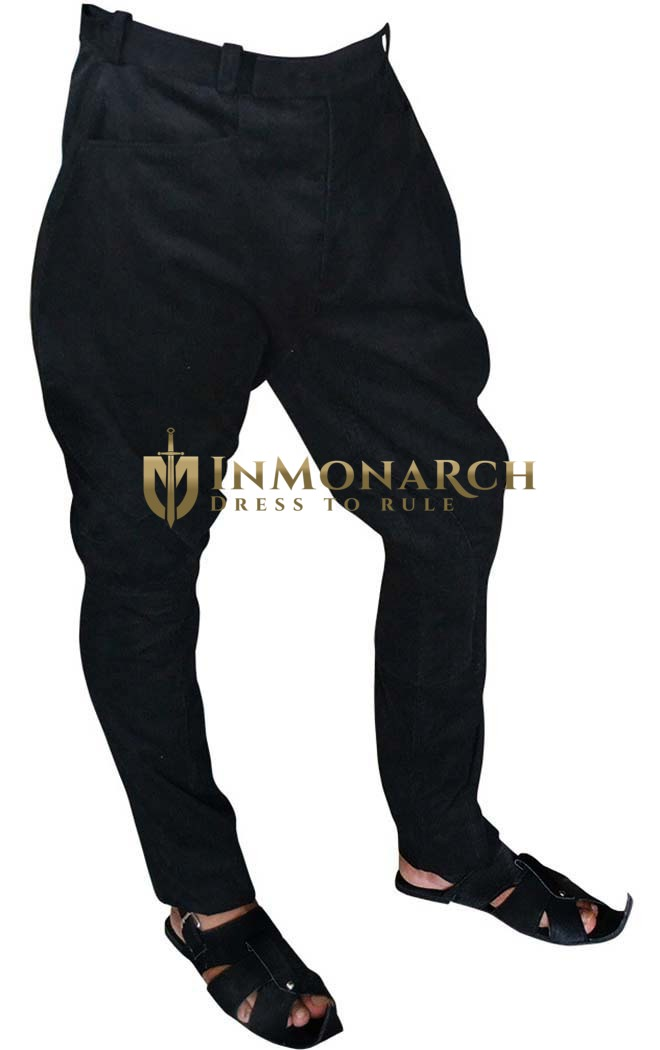 Mens and Womens Royal Black Corduroy Breeches