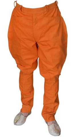 Mens and Womens Orange Corduroy horse riding Pant breeches